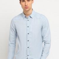 Osella Baju Pria Kemeja Lengan Panjang Motif Blue