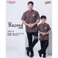 YZD 12 Baju Muslim Atasan Koko Couple Ayah Anak Labebah Yazeed Coklat