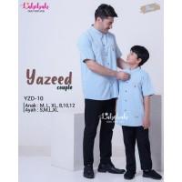 YZD 10 Baju Muslim Atasan Koko Couple Ayah Anak Labebah Yazeed Blue