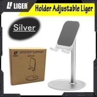 LIGER Adjustable Desktop Phone Stand Tablet Holder with 360