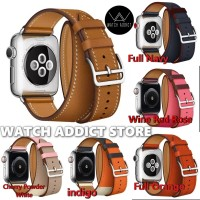 Double tour loop hermes strap apple watch 38mm 40mm 42 iwatch leather