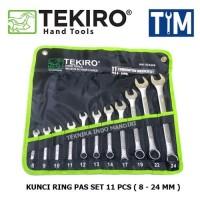 (TEKIRO) Kunci Ring Pas Set 11 pcs (8-24mm)