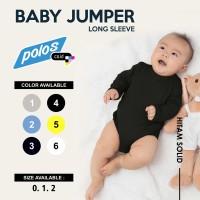 Jumper Bayi Polos / Baby Jumper Cotton 20s Unisex Lengan Panjang