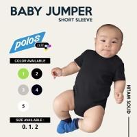 Jumper Bayi Polos / Baby Jumper Cotton 20s Unisex Lengan Pendek