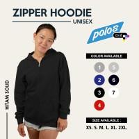 Jaket Zipper Hoodie / Hoodie Zipper Polos Unisex Tebal Premium Quality