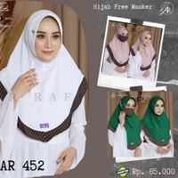 Hijab Arrafi Terbaru AR 452 Jilbab Bergo Instan Antem Free Masker