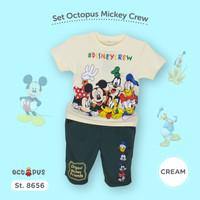 setelan anak laki laki jogger mickey mouse set baju anak imlek anak co - Biru Muda