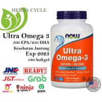 Now Foods, Ultra Omega-3 500 EPA/250 DHA 180 Softgels Now Food Omega 3