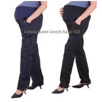 Celana hamil strech basic 521 baju hamil - hitam, allsize