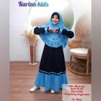 Karina Kids Baju Muslim Anak Gamis Anak Perempuan Usia 8-10 Tahun