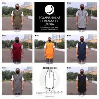 ROSAL HOODIE - Rompi Pakaian Sholat Solat Baju Koko Gamis Pakistan - Hitam, XXXL