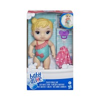 Baby Alive Boneka Bayi Splash Snuggle Blonde