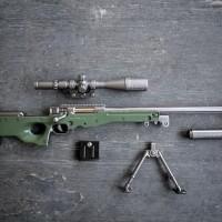 PUBG Miniatur Weapon Model AWM Sniper Full METAL besar Toys Kit Scope