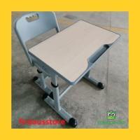 D05 Meja Kursi Bangku Sekolah Rangka Besi modern
