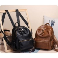 Backpack Wanita GD10224 Tas Ransel Gendong Punggung Kulit Wanita Impor