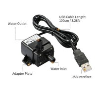 Pompa Celup Mini Brushless USB 5V aquarium Submersible Water Pump
