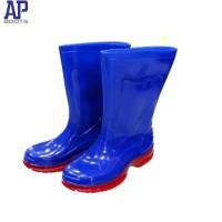 Sepatu Boots Karet Anak AP Boots 9309 Warna Blue/Red Size 19-21