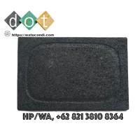 batu bakaran pengganti arang grill pan black lava granito harga murah