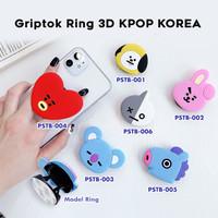 KPOP KOREA - Griptok Ring 3D/ Phone Holder PVC/Phone Stand/Phone Grip - PSTB-004