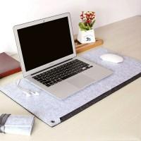 Alas Notebook / Laptop dan Mousepad Bahan Kain Beludru Sintetis