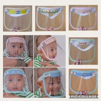 Pelindung wajah utk bayi / face shield baby / baby shield - Putih