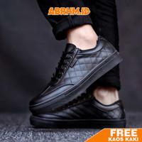 ABRHM - Sepatu Pria Sneakers Semi formal Kasual Santai Walker001 - Cokelat, 38