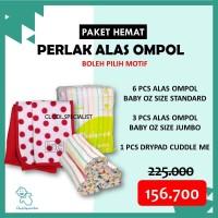 ORI Paket Alas Ompol Garis Baby Oz/ Drypad Cuddle Me/ Perlak Lurik