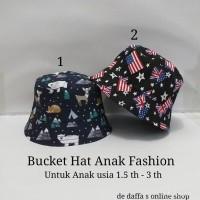 Topi bucket hat Anak Fashion Aneka Motif fisherman.