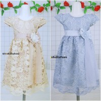 Gaun Pesta Size 8-12 Tahun / Quality Premium Brukat Anak Perempuan