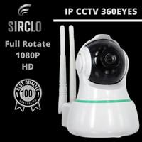SIRCLO Kamera CCTV rotate 360 / IP Camera 1080P 2MP / Kamera Pengintai