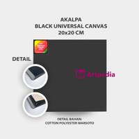 Akalpa Kanvas Lukis Hitam 20 X 20 cm / Canvas Black 20 x 20 cm