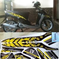 Stiker Striping Motor YAMAHA MIO Sporty Limited Edition kuning hitam
