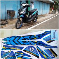 Stiker Striping Motor YAMAHA MIO Sporty Limited Edition biru