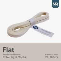 Tali Lilin Gepeng (Flat) 130cm Variasi Warna untuk Sepatu Sneakers