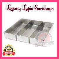 Loyang Brownies Sekat 3 / loyang bolu gulung / loyang lapis surabaya