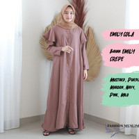 EMILY COLA Baju Atasan Muslim Wanita Gamis Dress Fashion Wanita Muslim