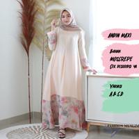 ANDIN MAXI Baju Atasan Muslim Wanita Gamis Dress Fashion Wanita Muslim
