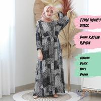 TENIA HOMEY DRESS Baju Atasan Muslim Wanita Gamis Dress Fashion Wanita