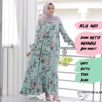 DELIA MAXI Baju Atasan Muslim Wanita Gamis Dress Fashion Wanita Muslim
