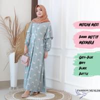 MOISHA MAXI Baju Atasan Muslim Wanita Gamis Dress Fashion Wanita