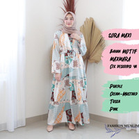 SORA MAXI Baju Atasan Muslim Wanita Gamis Dress Fashion Wanita Muslim