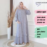 SIMPLY MAXI Baju Atasan Muslim Wanita Gamis Dress Fashion Wanita Cewek