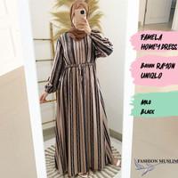 FAMELA HOMEY DRESS Baju Atasan Muslim Wanita Gamis Dress Wanita Cewek