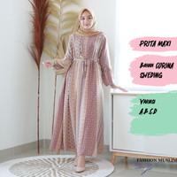 PRITA MAXI Baju Atasan Muslim Wanita Gamis Dress Fashion Wanita Muslim