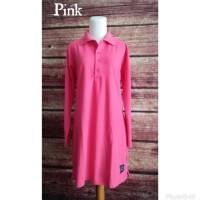 Terlaris Kaos Polo Shirt Muslimah BIG Size XXL Jumbo - Merah New