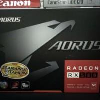 Termurah Gigabyte Aorus Radeon RX580 RX 580 8GB DDR5 garansi 3 tahun