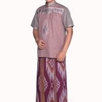Sarung ATLAS Idaman Harmoni Etnik Maroon 01