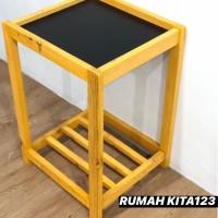Kaki Meja Dispenser Guci Kayu Ramin/Jati
