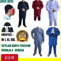 Berkah Setelan gamis pakistan pria remaja dan dewasa/baju koko pria