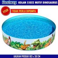 ^NEW KOLAM RENANG BESTWAY TANPA POMPA MOTIF DINODAURUS 183 X 38 CM
